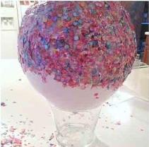 Globo con confeti